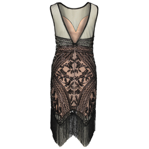 Image 3 - Retro 1920s Great Gatsby Charleston Dress V Neck Sleeveless Sequin Fringe Art Deco Women Flapper Dress Ganster Party Costumes