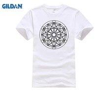 Cómodo camiseta hombres algodón Metatrons cubo con Tesseract Hypercube 4d  símbolo Digital Dimensional cambio Camiseta corta 253f8603b15
