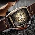 Топ бренд Роскошные мужские часы Shenhua автоматические механические часы мужские модные часы с черепом и скелетом мужские ретро часы 2019