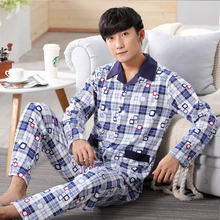 Brand New Long Sleeve Men Sleepwear Masculine Pajamas Sexy Men s 100 Cotton Pajama Sets Sleepwear