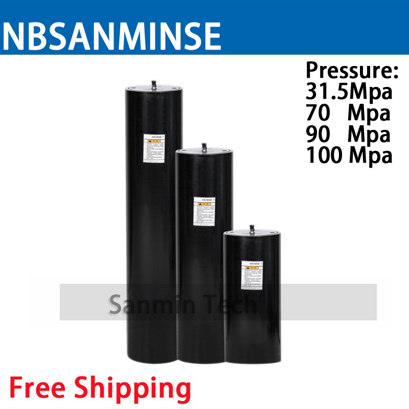 Thread Connection HXQ Piston Accumulator Nominal Pressure No Leakage High Temperature Resistance Long Service Sanmin цены онлайн