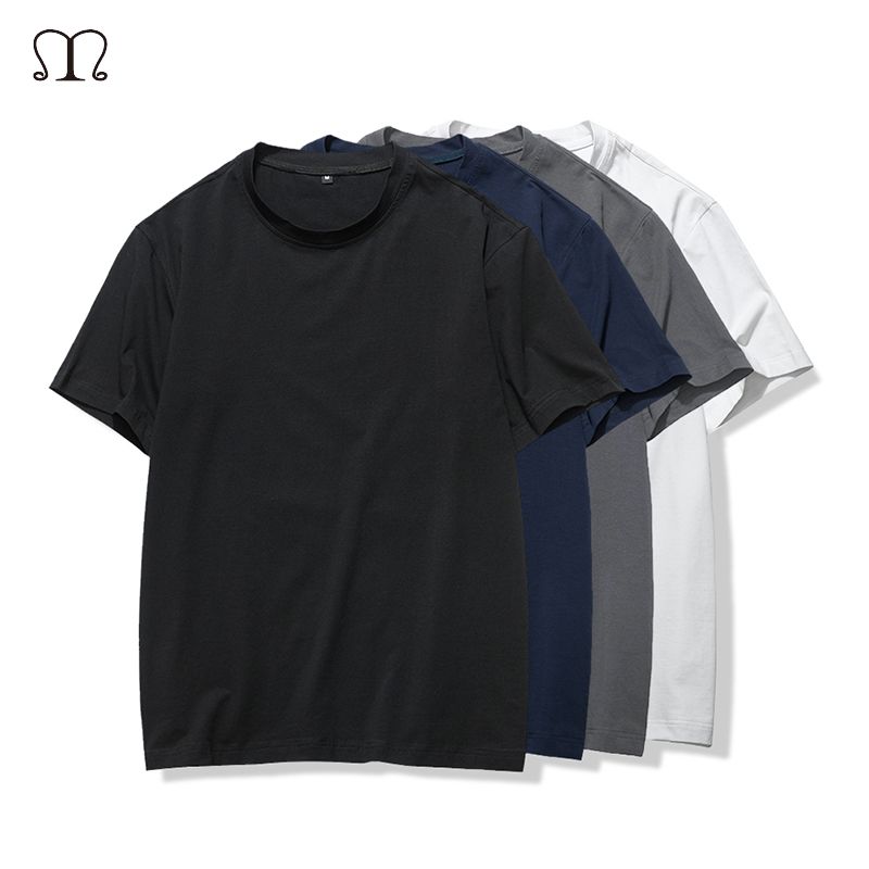 Summer Solid Color Cotton T Shirt Men Casual Streetwear T-shirts Top Tee Shirt Homme Boy Hip hop Skate Tshirt Tops Clothes Men