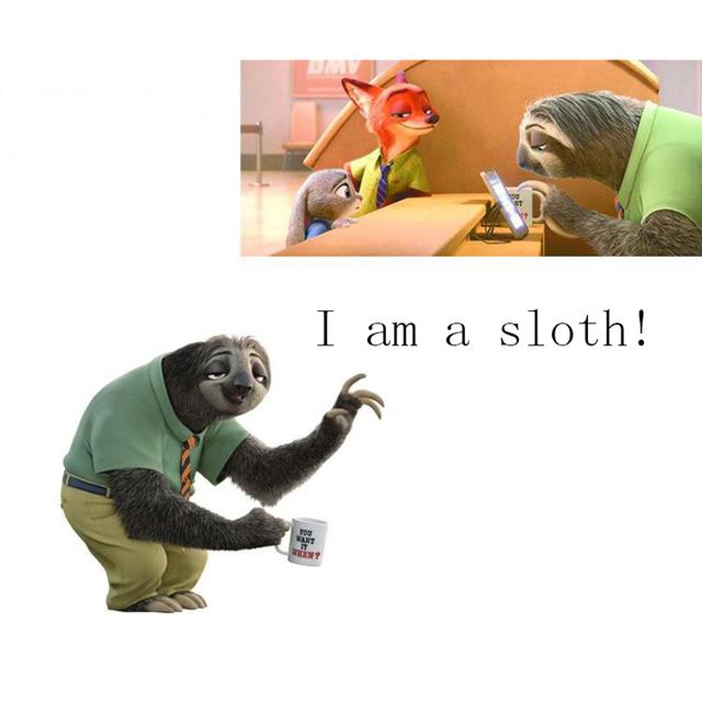1/Pcs 25 cm Sloth Juguetes Nueva Llegada del Personaje de la Película de Dibujos Animados Juguetes de Peluche Suave Para Dormir Juguetes Para niños Los mejores Regalos de Buena Calidad
