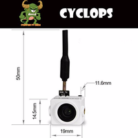 F Cloud TURBOWING CYCLOPS V2 Mini 5.8G 25mW Wireless AIO Camera Vtx for FPV, 48CH, Support Smart Audio V1 Protocol)