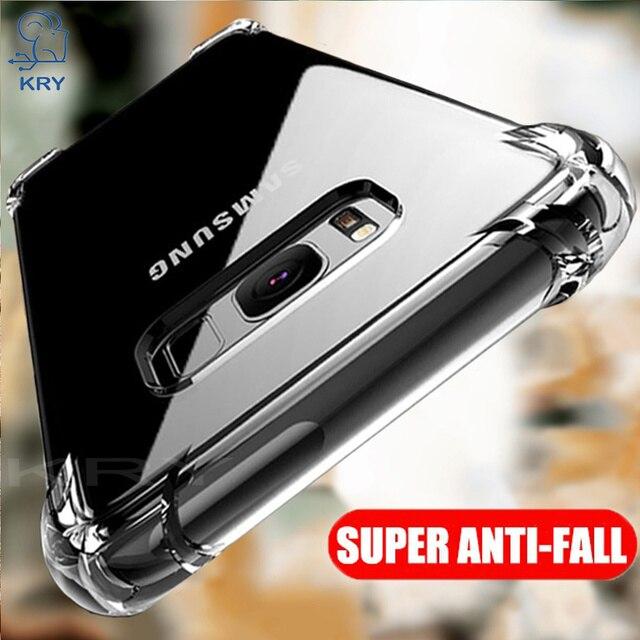 KRY Transparent Phone Cases For Samsung S8 Plus Case For Samsung S8 Case Soft Cover For Samsung Galaxy S9 Plus Cases Note 8 Capa
