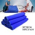 10 pcs 30*70 cm Azul Macio e Absorvente Cache de carro lavagem de carro toalha toalhas de Limpeza depilação toalha de pano casa Toalhas de Limpeza da cozinha