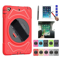 XSKEMP For iPad Air 3rd Gen 10.5 2019 A2152 A2123 A2153 A2154 Rugged Shockproof Anti Slip Hybrid Protective Case+ Tempered Glass