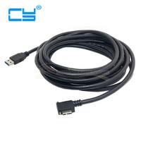 USB3.0 USB 3.0 마이크로 B 남성 왼쪽 각도 90 360도