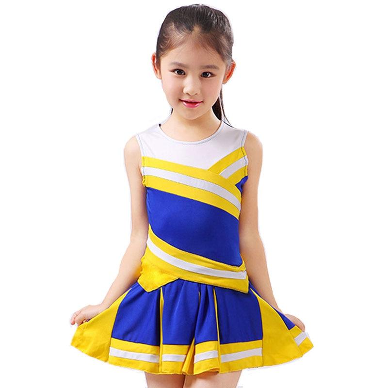 Student Competition Cheerleaders Girl School Uniform Cheer Team Uniforms Kids Performance Costume Sets Girls Class Suit Rooter