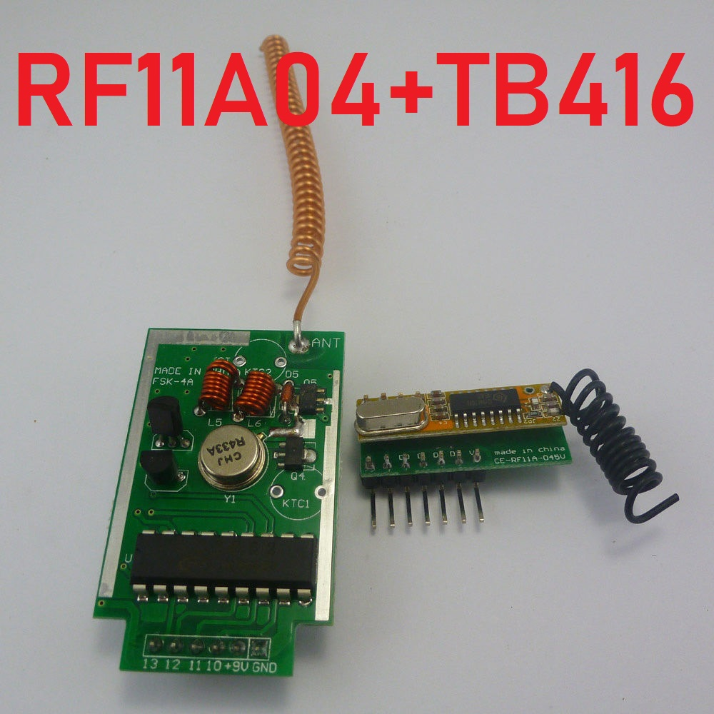 RF11A04*1+TB416*1 433MHz PT2262 PT2272 EV1527 for Arduino Encoder Decoder RF Delay Wireless Link Kit