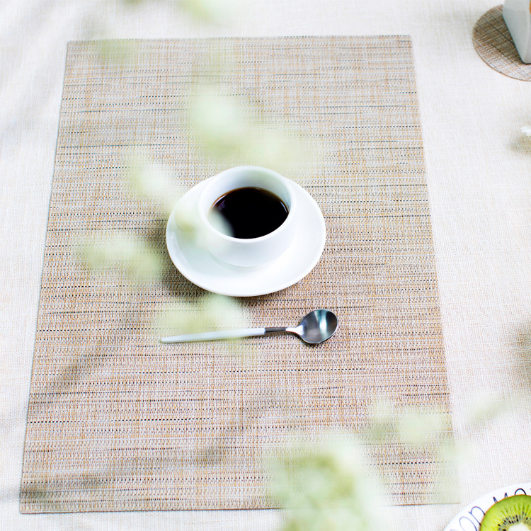 5 ColorPvc Solid Color Placemat Dining Table Mats Set De Bowl Pad Napkin Tray Mat Coasters Kids
