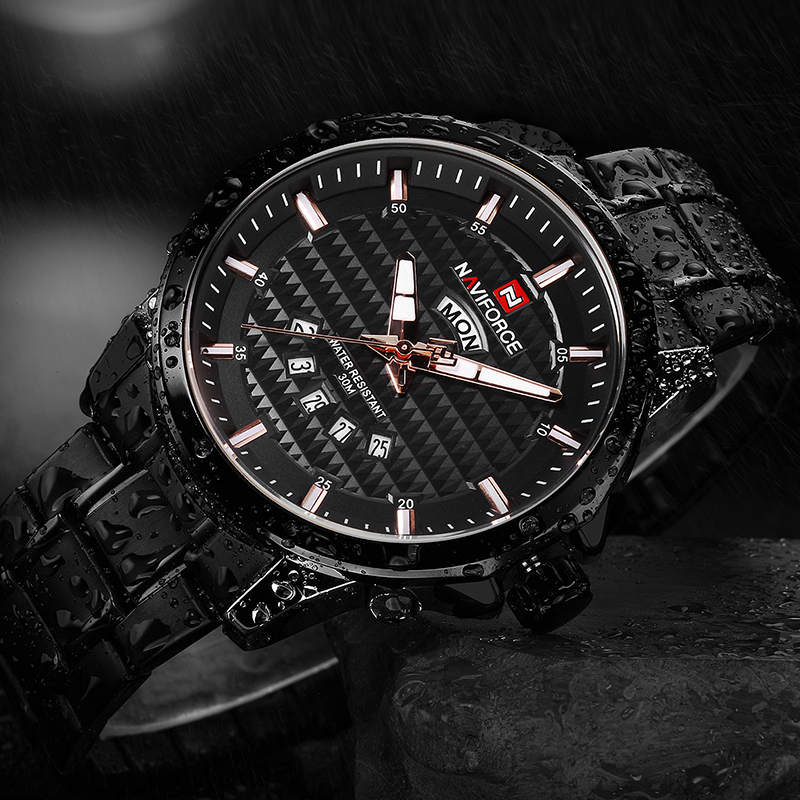 New Top Luxury Brand NAVIFORCE Man watches Mens Fashion Casual Waterproof stainless steel Quartz Clock man sports Wrist watch