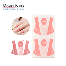Monika 100pcs Nail Form Self Adhesive Art Guide Stickers for Acrylic UV Gel Tips Manicure Extension Tool