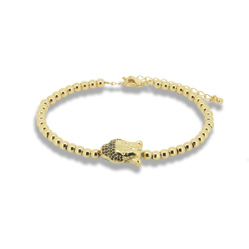 1pc Trend Anil Arjandas Men Bracelet Paved CZ Beads Buddha Spacer Macrame Men Bracelet Fashion Men Jewelry