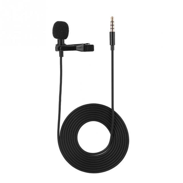 Profession Microphone à pince Portable 3.5mm Mini micro à condensateur filaire mains libres pour iPhone Samsung Android & Windows nouveau
