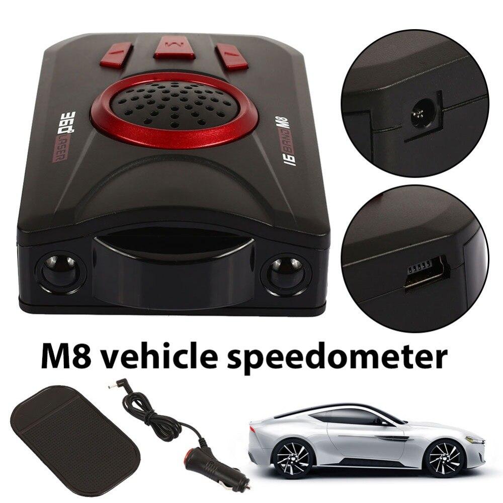 Vehemo Car Radar Detector 16 Band Voice Alert M6 7 8 Anti Radar Detector LED Display Car Speed Testing System For all cars