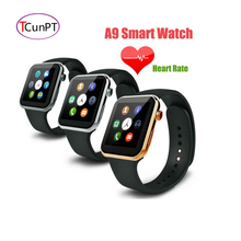 New smartwatch a9 bluetooth smart watch a9 unterstützung apple iphone ios android phone mit pulsmesser sieht aus wie apple uhr
