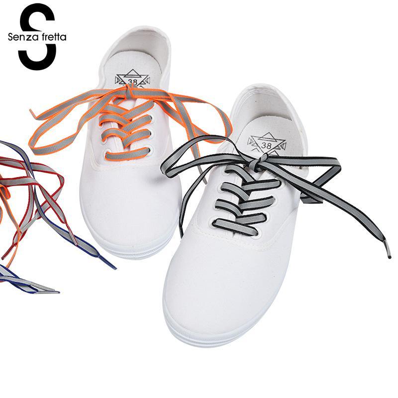 Senza Fretta Glowing Shoelaces Fit for Sneakers Canvas Shoes Shoelaces Fashion Shoe Shoelaces 1 Pair 120 cm Shoe Laces LDD0040 fggs shoelaces light for shoes 60 cm white