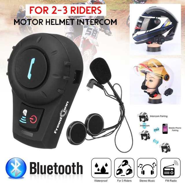 รถจักรยานยนต์หมวกกันน็อค Intercom 500 M ระยะทางชุดหูฟัง BT Interphone พร้อมฟังก์ชั่นบลูทูธ EU หรือ US Plug