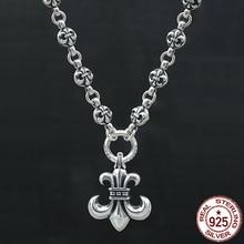 S925 sterling silver herr halsband personlighet mode klassisk smycken punk stil dominerande ankare form 2018 ny gåva