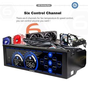 Image 3 - ALSEYE a 100L (B) جهاز تحكم بالمروحة للمراوح التبريد شاشة تعمل باللمس 6 قنوات جهاز تحكم في سرعة المروحة لمروحة 3pin 4pin