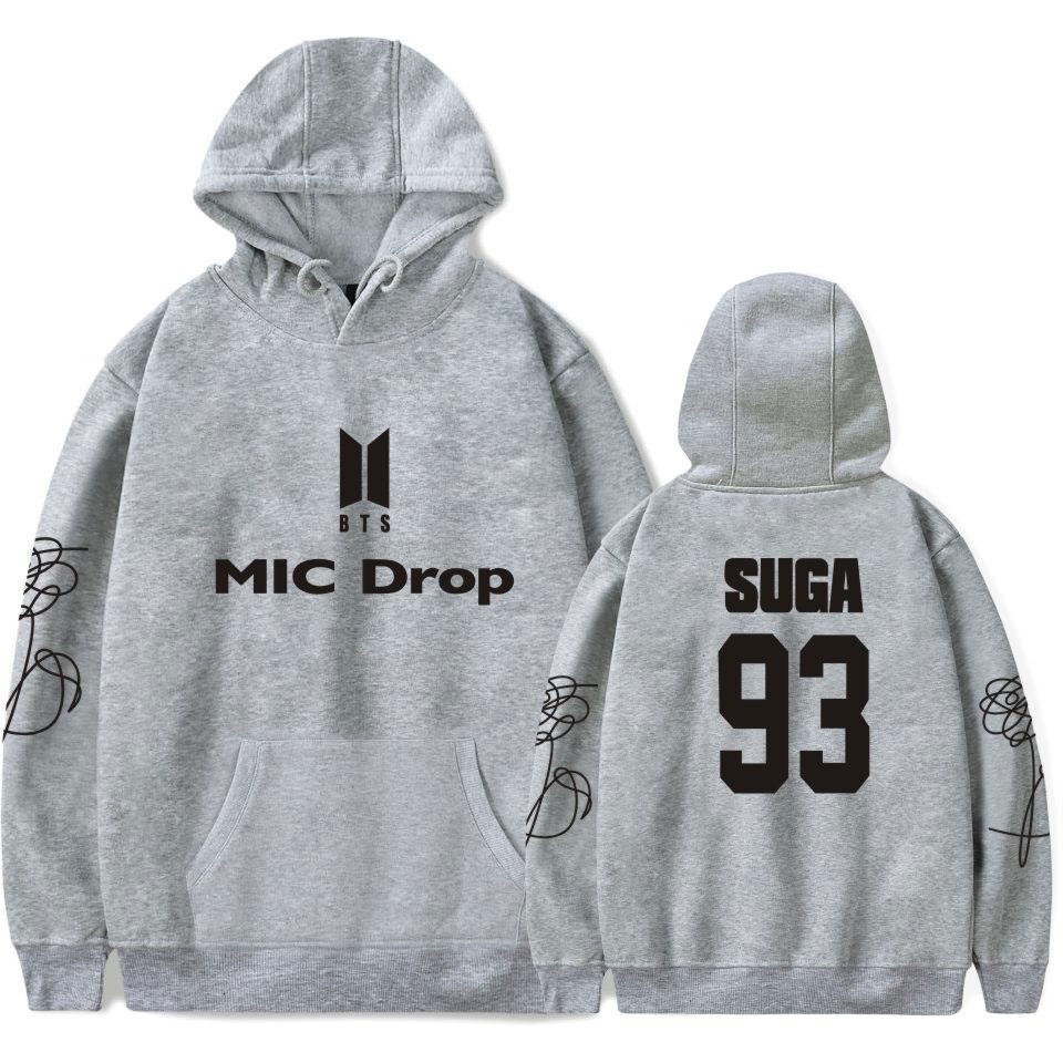 BTS Bangtan Boys Tracksuit Loose Hoodie Sweatshirt Love Yourself Flower Korean Sweatshirt Women Casual Fashion Oversized Hoodie
