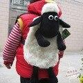 Candice guo! nueva llegada muy lindo suave muñeca ovejas de peluche de juguete de regalo de cumpleaños bolsa de niños mochila mochila de dibujos animados bebé de cordero 1 unid