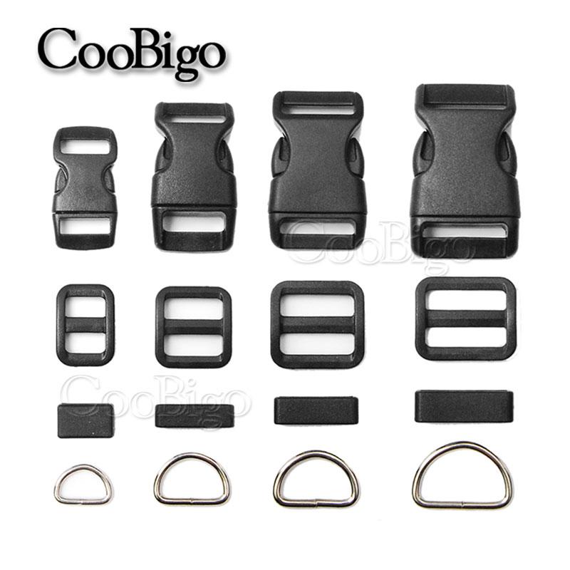 Home & Garden 2019 Latest Design 100sets Pack 3/8 5/8 3/4 1 Side Release Buckle D Ring Tri-glides Slider Adjustable Buckle For Dog Collar Backpack Bag Parts