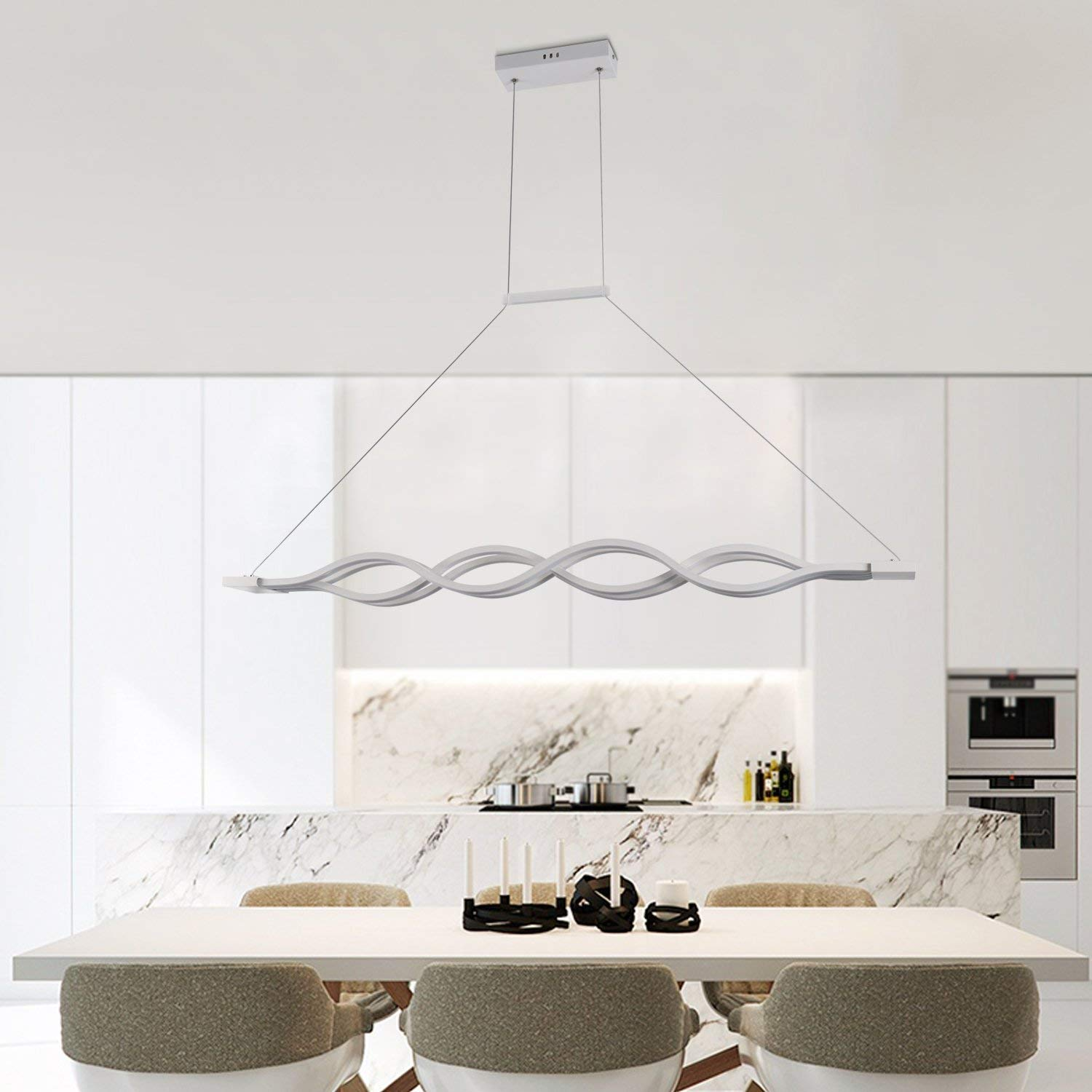 Modern Contemporary Pendant Lights Flush Mount Wave Lighting for Kitchen livving Dining Room Nature de Hanging LED lamp FixtureModern Contemporary Pendant Lights Flush Mount Wave Lighting for Kitchen livving Dining Room Nature de Hanging LED lamp Fixture