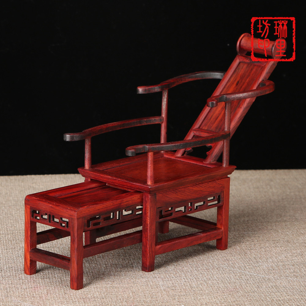 Excellent Us 41 88 Chinese Reclining Chairs Miniature Furniture Ornament Red Wood Mini Table Decoration Display Chinese Classical Wooden Crafts In Figurines Pdpeps Interior Chair Design Pdpepsorg