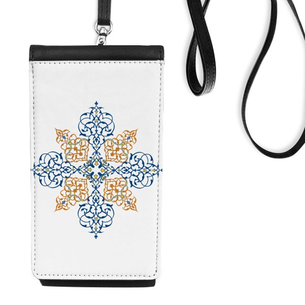 Flower Leaf Frame Baroque Art Leather Hanging Purse Wallet for iphone xs max case 78 plus luxury