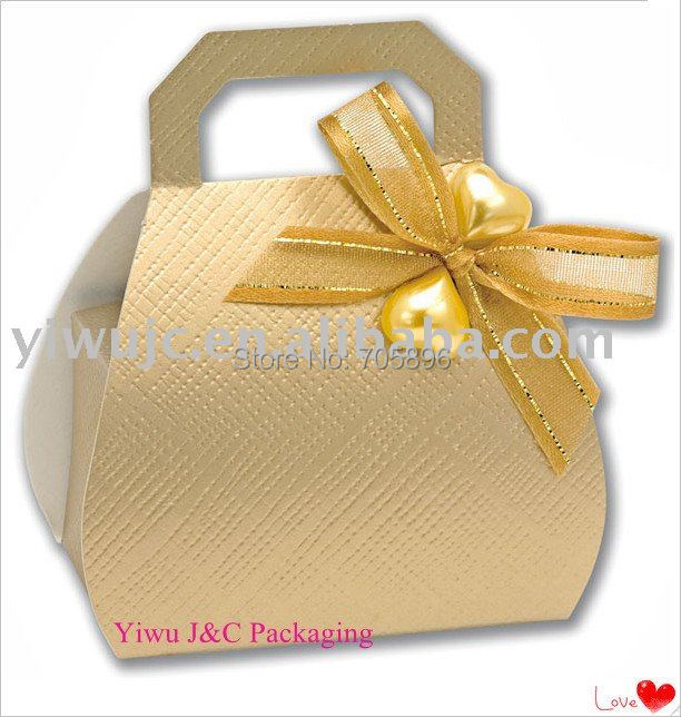 Free Shipping Textured Mini Handbag Wedding Favor Boxes