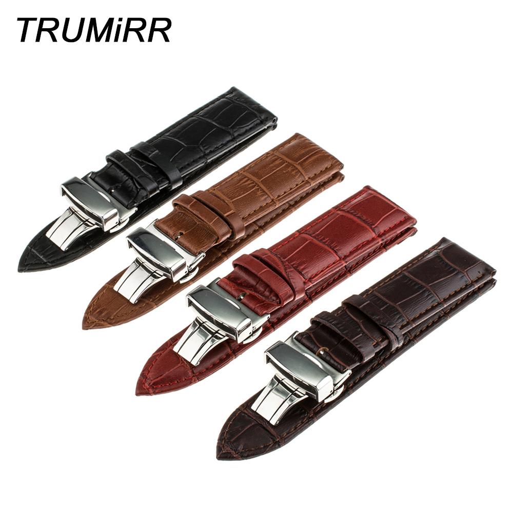 Calf Genuine Leather Strap 1st Layer for Tissot T035 T050 <font><b>PRC</b></font> <font><b>200</b></font> T055 T097 T099 Watch Band Bracelet 16mm 18mm 20mm 22mm 24mm image