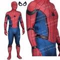 Alta Calidad Nuevo Tom Traje de Spiderman 3D Guerra Civil Película Spiderman Spiderman Spandex Traje de Adultos Traje de Spiderman