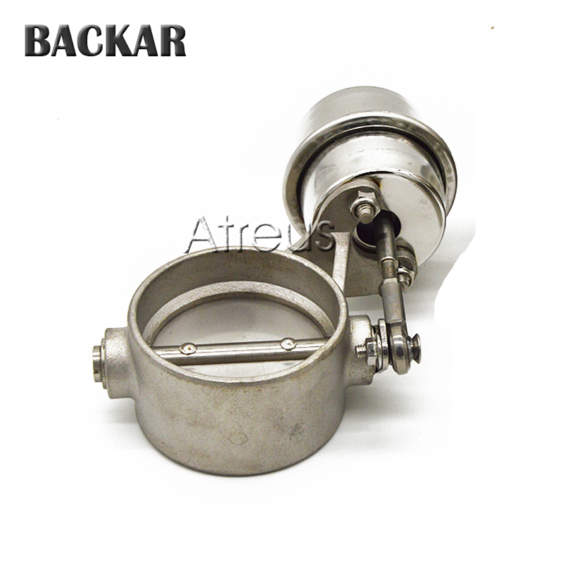 Backar 2 2.5 3 inch 51mm 63mm 76mm Pipe Stainless Steel Car Exhaust Control Valve Set Boost Actuator CLOSED Pressure About 1 BAR