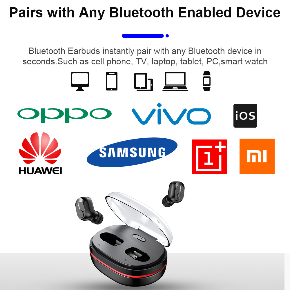 Dacom K6H Pro Wireless Headphones TWS True Wireless Earbuds Ear Buds Phone  Bluetooth Earphone 5 0 Mini Headset PK i12 i10 tws