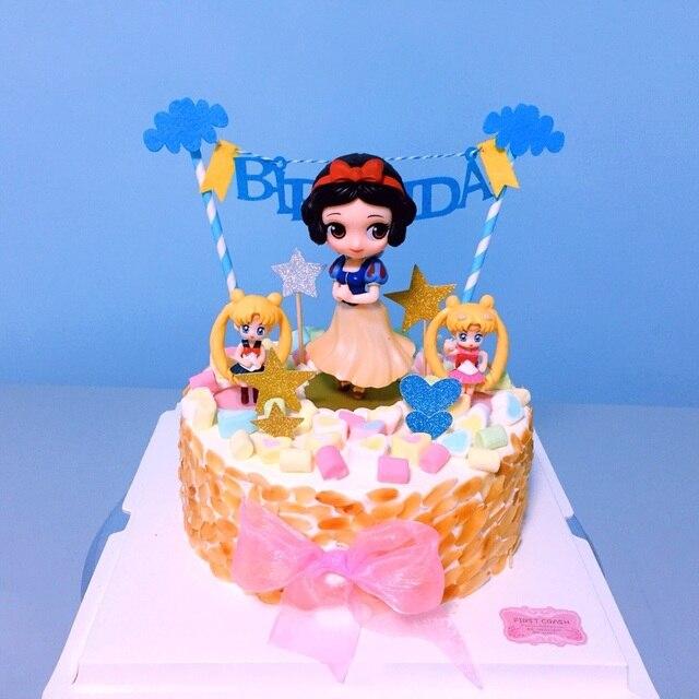 Aliexpresscom Buy Princess Cake Topper Snow White Alice Mermaid