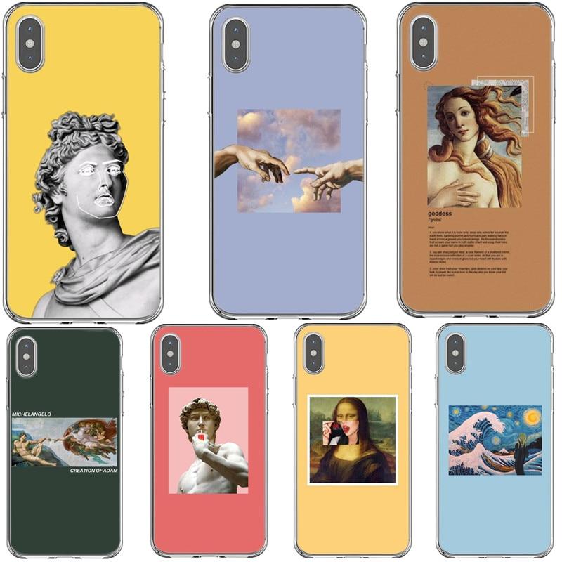 Art Fresco Michelangelo Creation of Adam Soft Silicone Phone Case For Apple iPhone 5 5s SE 6 6s Plus 7 8 Plus X XR XS MAX Cover