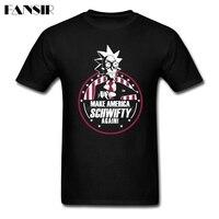 Men T Shirts Classical Custom Cotton Short Sleeve Tshirt Men Man S Make America Schwifty Again