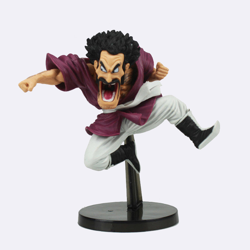Dragon Ball Z Mr. Satan Funny Jump Ver. Action Figure DBZ Mark Goku Friend PVC Collection Model 14cm