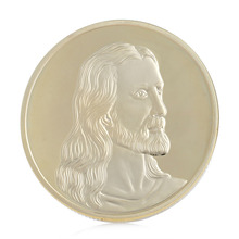 Jesus Last Supper Gold Plated Souvenir Coin Art Collection Collectible Christmas Commemorative Coin Non Currency Coin gold silver color panda commemorative coin metal crafts gifts home decoration accessories challenge coin art collection