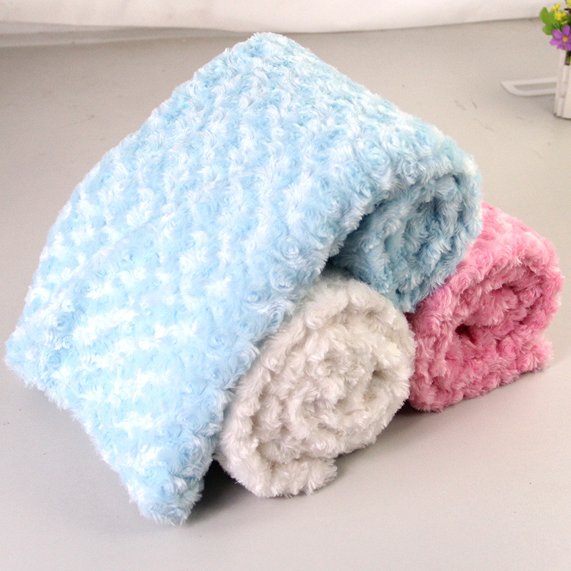 New Wool Blanket Double Layer Fleece Infant Thickening Stroller Blanket Newborn Cover Baby Blanket Boys Girls Coral Cashmere