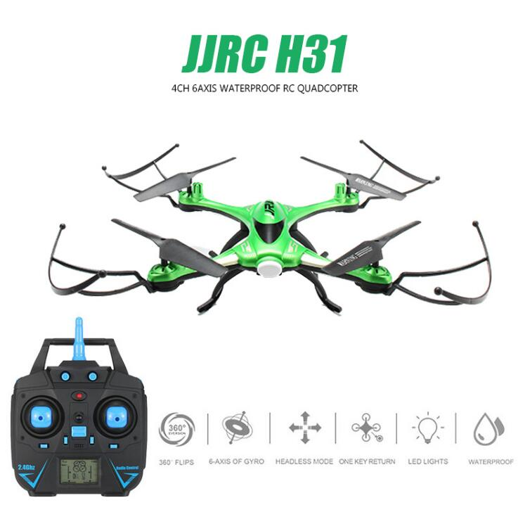 Jjrc H31 impermeable anti-Crash 2.4g 4CH 6 eje quadcopter headless modo RC drone juguete Super Combo RTF vs H37 Syma X5C