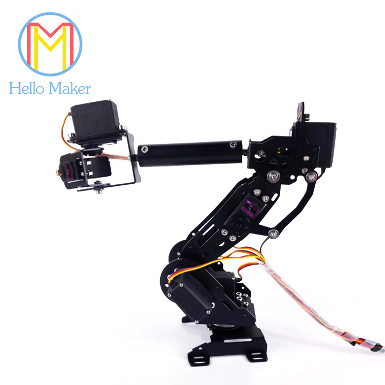 New Colorful Mechanical Arm A4 7 Axis Rotating Robot 7PCS High Torque Servo ABB Arm Model