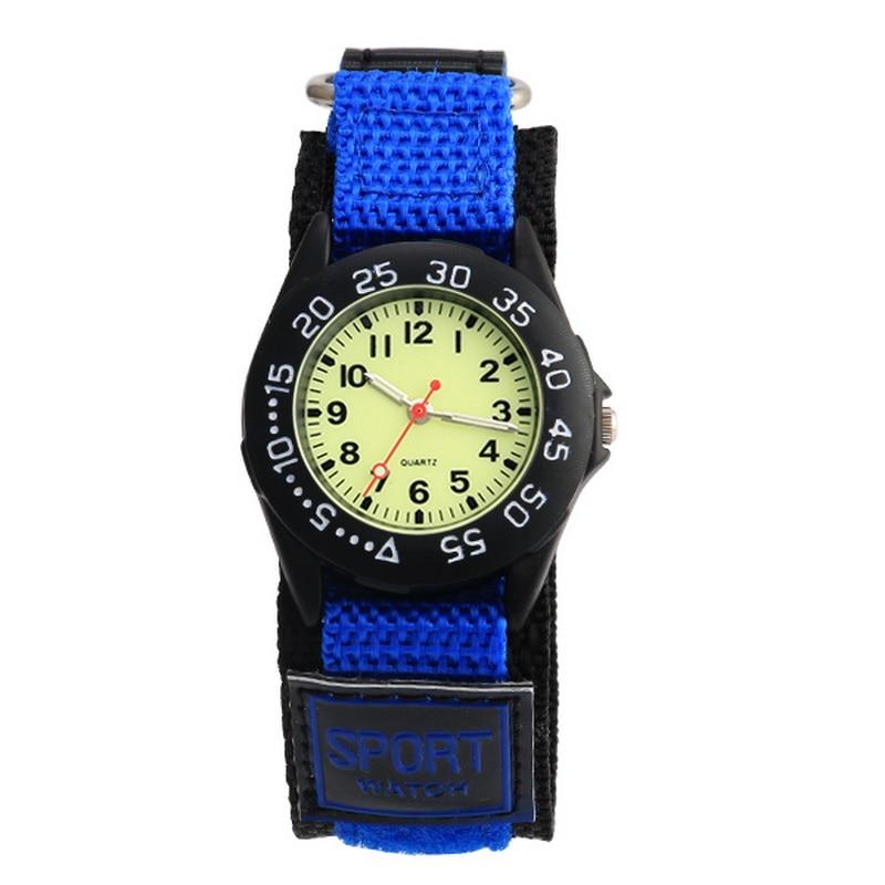 Watches Kid Boy Nylon Straps Wristwatch Children  Quartz Watch Cute Clock Montre Rotary Bezel Analog Watch Kids 2018