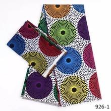 Gran oferta impresiones de cera Africana tela de seda Tejido de gasa satinada 4 + 2 yardas Ankara Africana estampados de tela de Audel 926