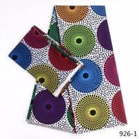 Hot Sale African Wax Prints Fabric Silk Satin Chiffon Fabric 4+2 Yards African Ankara Fabric Prints Audel Fabric 926