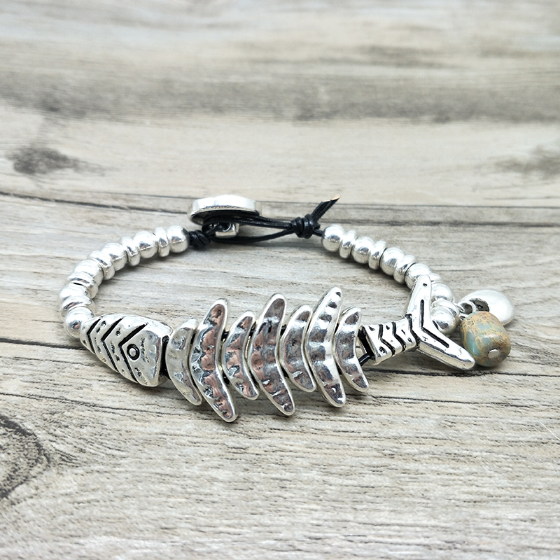 2018 New Unique Design Fish Bracelet Vintage Silver Beads Braided Bohemian Jewelry for Women машины tongde набор автострада 84 детали