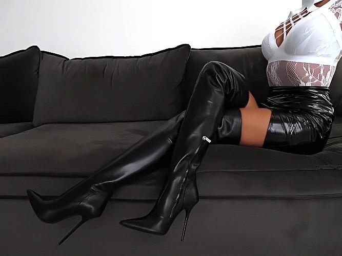 as Femme Sexy Muslo La Del Invierno Delgado Rodilla Entrepierna As Sobre Alto Cuero Largo Botines Picture Negro 2019 Chaussures De Picture Tacón Punta Botas SBq7wfBdx
