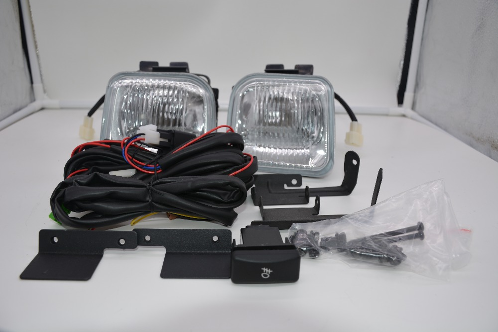 eOsuns halogen fog lamp with wires harness relay, switch, fog lamp house and frame cover complete kit for honda civic 1996 1998